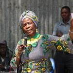 Prof Anna Tibaijuka akiwaomba ridhaa ya kuendelea kuwaongoza kwa kipindi kijacho wananchi wa Nyakabango Kimwani 28/07/2015