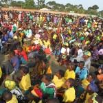 Mamia ya wananchi walioudhulia ufunguzi wa kampeni za ubunge jimbo la Muleba Kusini 12/09/2015