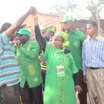 Prof Anna Tibaijuka akimnadi mgombea udiwani Ikuza visiwani
