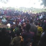 Mh Prof Anna Tibaijuka akiwahutubia wananchi wa kaata ya Gwansel katika uzinduzi wa kampeni za diwani ndugu Yakubu