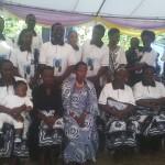 Prof Tibaijuka akiwa katika picha ya pamoja ya msiba wa Ta Nshala
