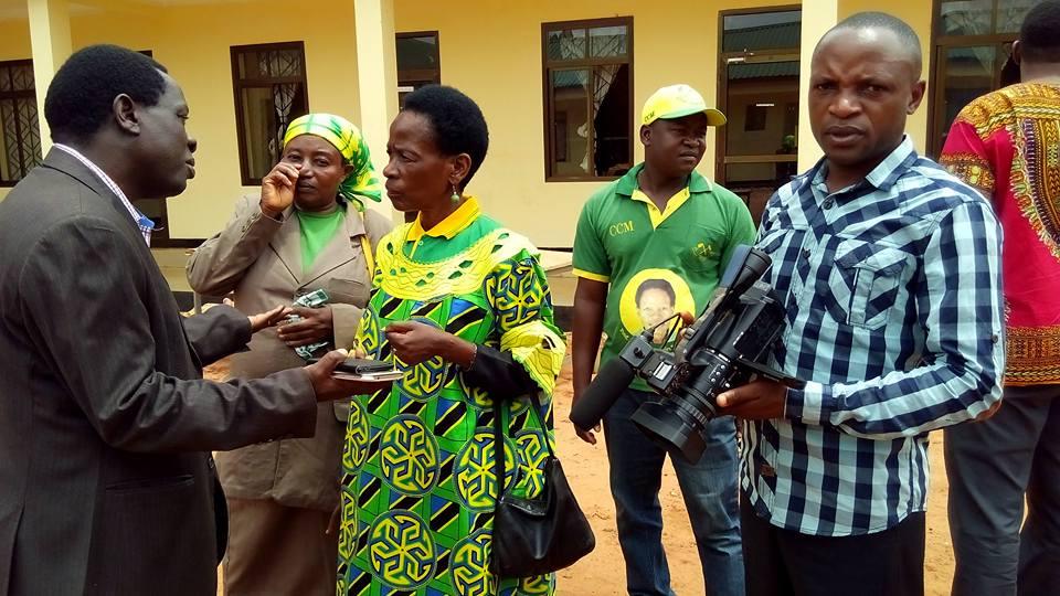 Prof Anna Tibaijuka, Mbunge mteule wa Muleba Kusini akiwa katika ofisi za halmashauri kukabidhiwa hati ya ushindi