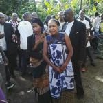 Prof Anna Tibaijuka katika mazishi ya Edwin Buberwa Mukwenda kijijini Bulambizi,Muleba