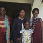 Prof Anna Tibaijuka akiwa ametembelewa na mkazi wa jimboni Muleba Kusini