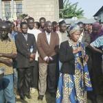 04-02-2016  Prof Anna Tibaijuka, Mbunge wa Muleba Kusini akishiriki mazishi ya diwani wa kata ya Kimwani Marehemu Faustine Muliga (CUF)