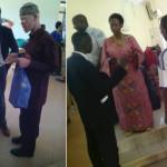 Mh Prof Anna Tibaijuka akizungumza katika nyakati tofauti na baadhi ya vijana wa Muleba.Kushoto ni mlemavu wa ngozi ambaye alipatiwa Sh.240,000 kwa ajili ya kupeleka watoto wake shule